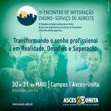 III Encontro de Integração de Ensino e Serviço acontece entre 30 e 31 de maio