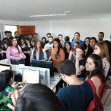 Estudantes realizam visita técnica