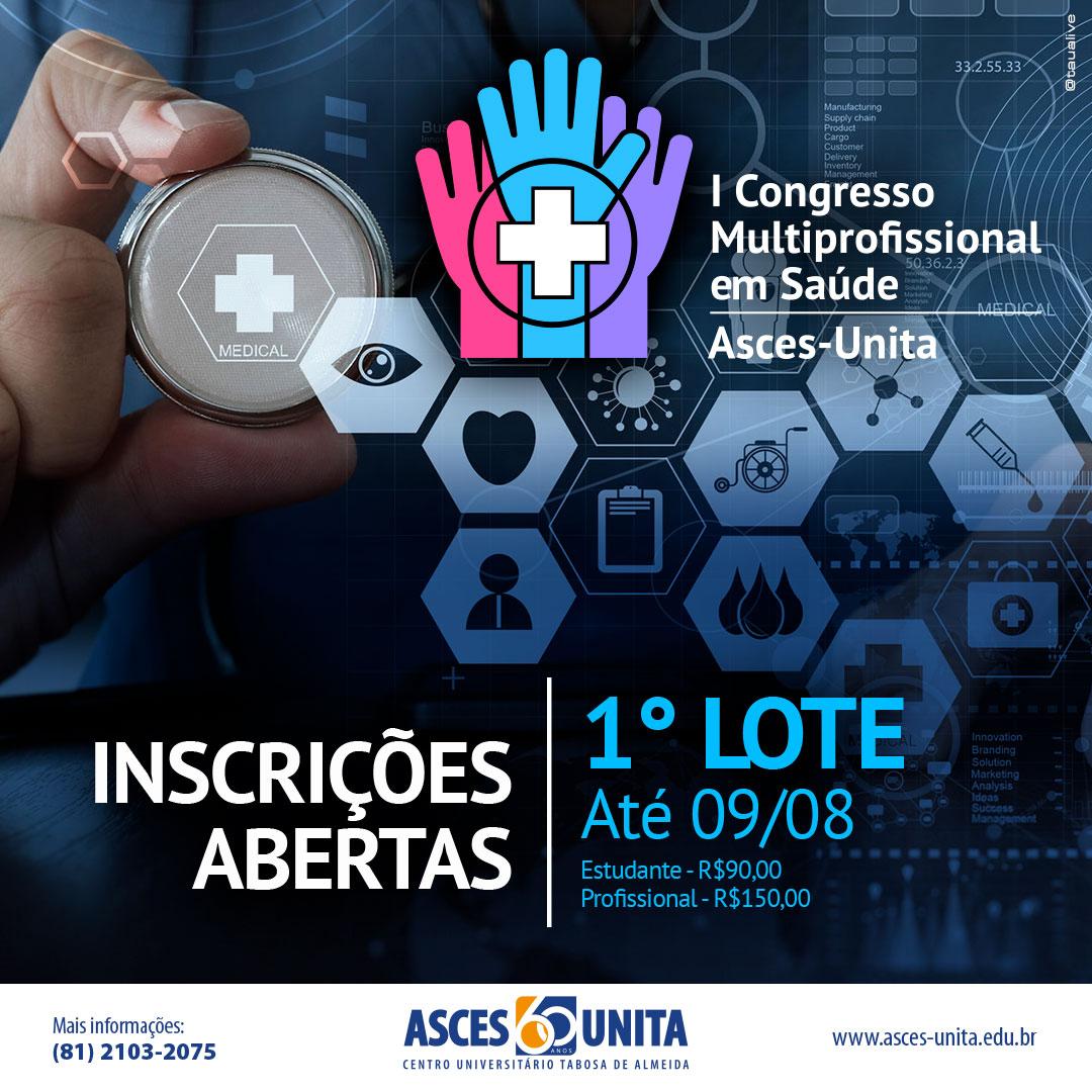 Inscrições abertas para o Congresso Multiprofissional em Saúde