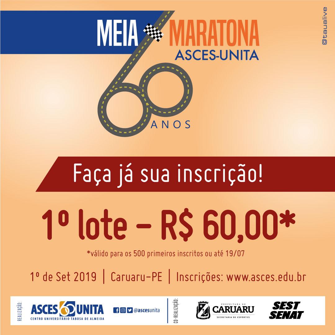 Primeiro lote de inscrição na Meia-Maratona com preço especial