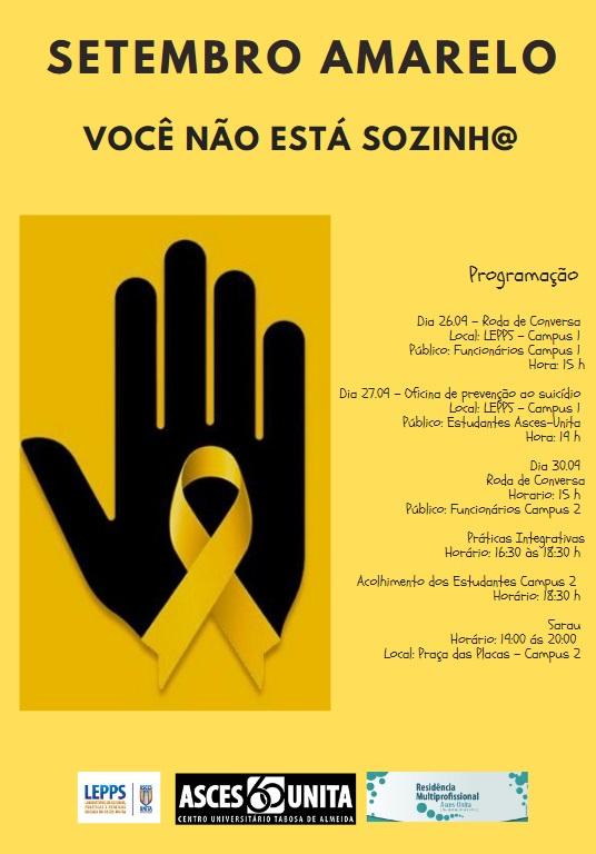 Asces-Unita promove atividades em prol da prevenção ao suicídio