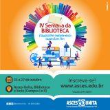 Asces-Unita promove a IV Semana da Biblioteca