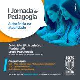 I Jornada de Pedagogia será realizada na Asces-Unita