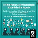Fórum Regional de Metodologias Ativas será realizado na Asces-Unita