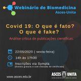Biomedicina promove o 1º Webnário na sexta-feira(22) de maio