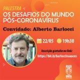 Curso de Jornalismo promove palestra sobre os desafios do mundo pós-coronavírus