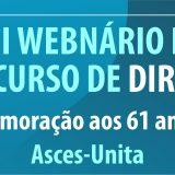II Webnário de Direito discutirá aspectos da profissão em cenários de crise