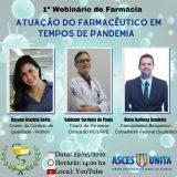 Webnário de Farmácia discutirá atuação do profissional em tempos de pandemia