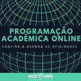 Programação de atividades online diversa na Asces-Unita