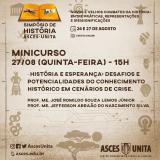 Simpósio de História - Minicurso debate ligação entre história e esperança