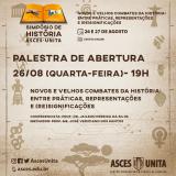 Conferência de abertura reflete sobre novos e velhos combates da História