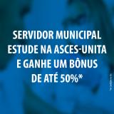 Servidor Municipal pode estudar com até 50% de desconto, saiba como!