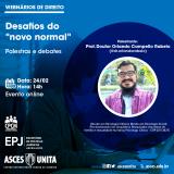 EPJ promove webnário sobre desafios do novo normal