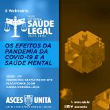 Projeto de extensão: Saúde Legal promove webinário