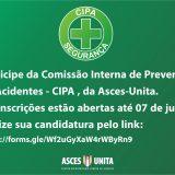 Comissão Interna de Prevenção de Acidentes - CIPA abre processo eleitoral