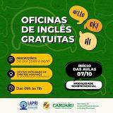 Parceria entre curso de Relações Internacionais e Prefeitura de Caruaru oferta curso de Inglês gratuito